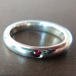 Tiffany & Co. Elsa Peretti Ruby Stacking Ring
